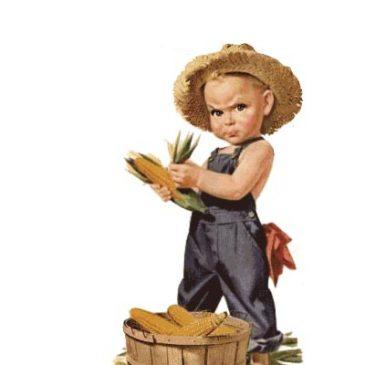 Victorian Scrap Corn Boy Graphic