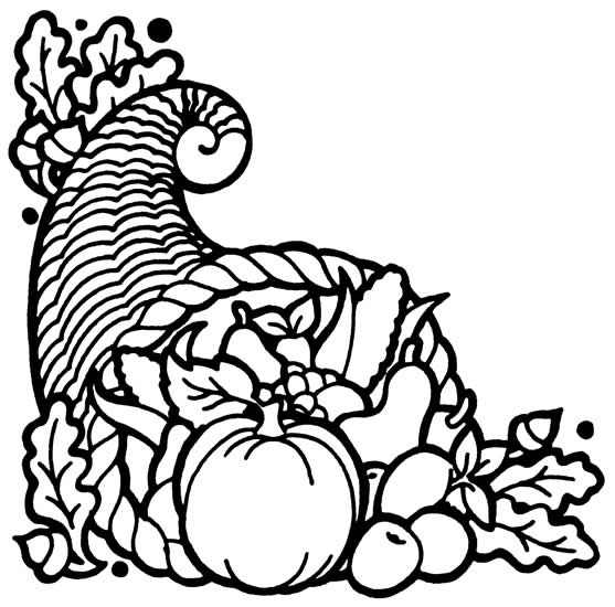 Happy Thanksgiving Cornucopia