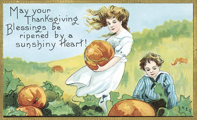 Vintage Thanksgiving Postcard Free clipart