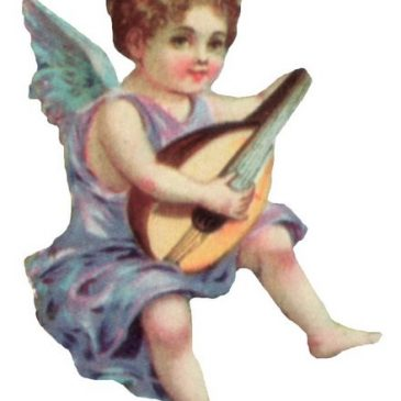 Angel with Mandolin graphic
