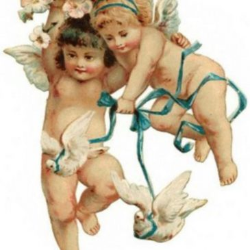 Victorian Angels with Doves Graphic