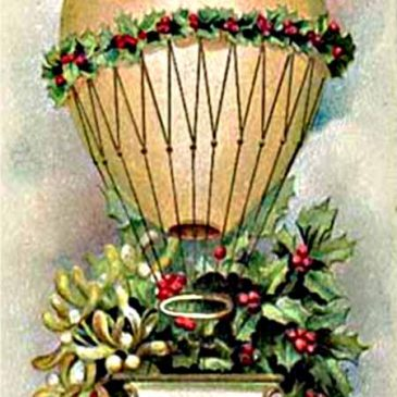 Christmas Hot Air Balloon Gift Tag