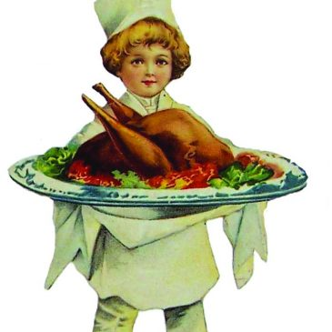 Victorian Boy Serving Thanksgiving