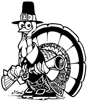 Gobbler with a Gun - Free Clip Art