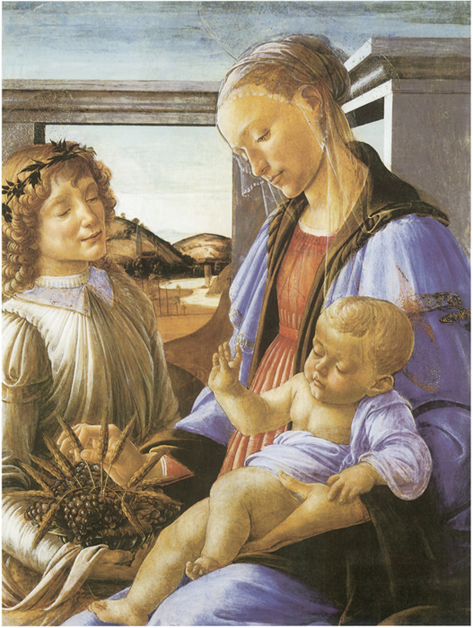 Madonna and Child Graphic Art Painting