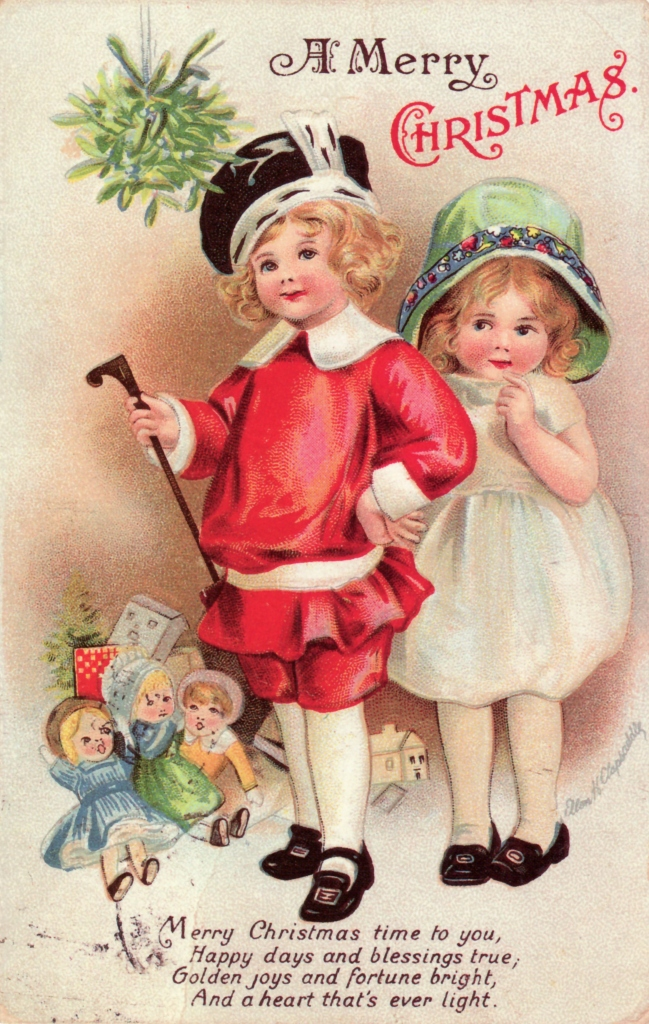 Victorian Girls Greeting Card Clip Art