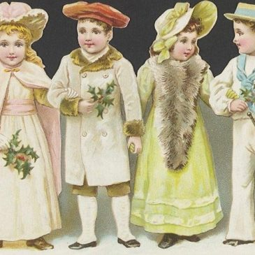 Victorian Christmas Children Graphic