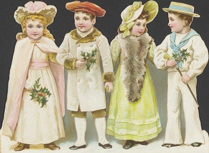 victorian christmas kids