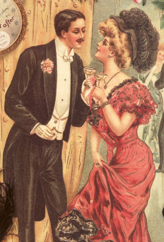 Vintage New Year's Party Couple