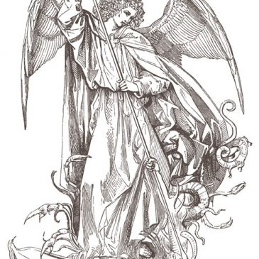 Angel Saint Michael Dragon Slayer