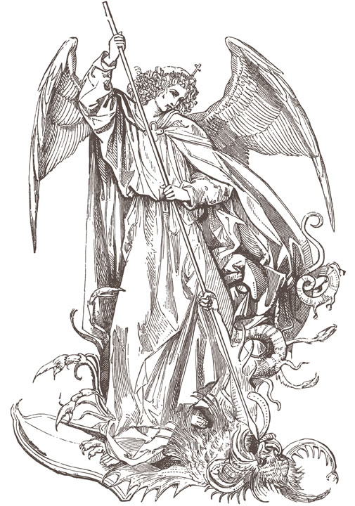 The Angel Saint Michael Slaying the Dragon