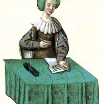 Lady at Desk Graphic
