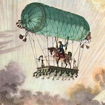 Vintage Hot Air Balloon Graphics