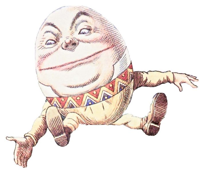 Humpty Dumpty and Alice in Wonderland Graphic