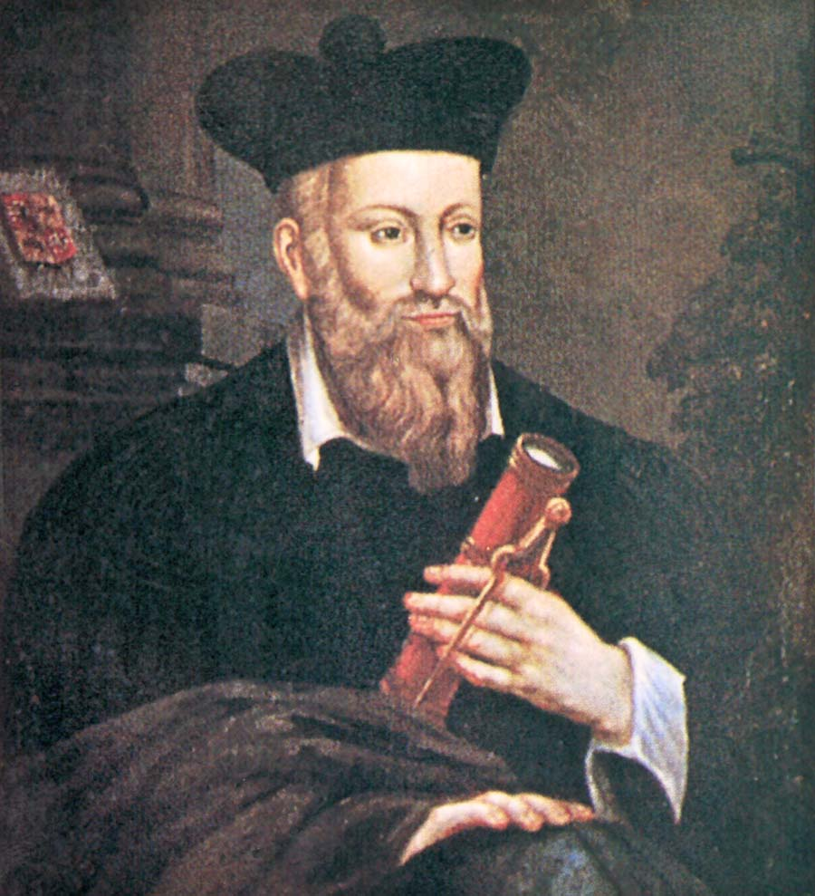 Nostradamus Portrait and Ephemera