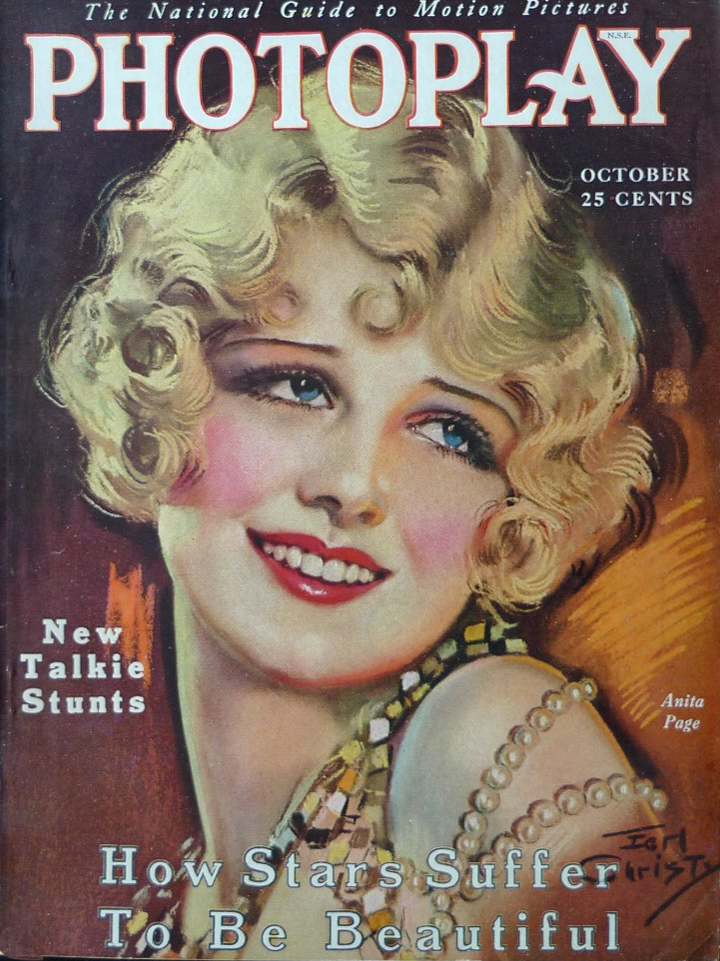 Anita Page Cover Art Photoplay 1929
