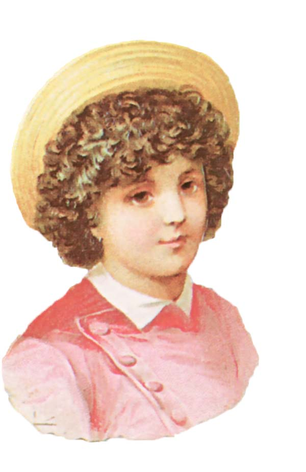 Victorian Scrap Kids Graphic Clip Art