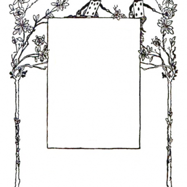 Alice in Wonderland Vintage Frame
