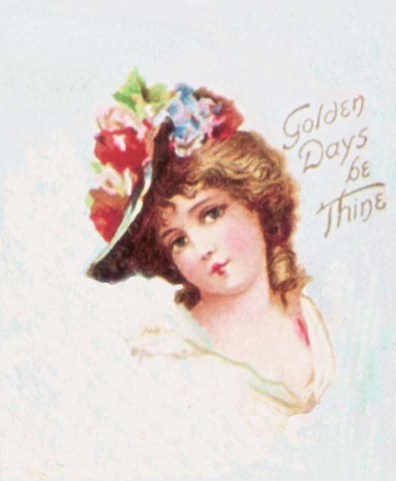 "Victorian Woman Graphic ""Golden Days"""