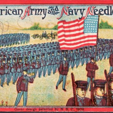 Army Navy 1909 Needle Book Cover