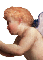 Angels With Crown Graphic Art Header