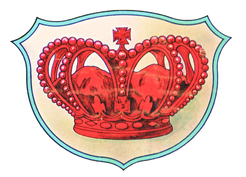Vintage Red Crown Graphic Art