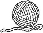 Ball of Yarn Knitting Graphic and Basket