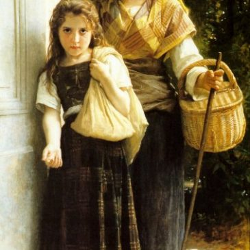 Little Beggar Girls Painting by Bouguereau