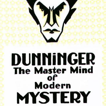 Dunninger Mystery Man Poster Vintage