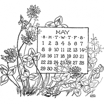 Vintage May Calendars – Blackboard Art