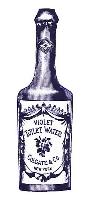 Violet Toilet Water Bottle Ephemera