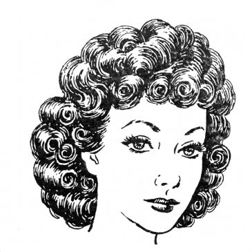Woman With Curly Hair Graphic