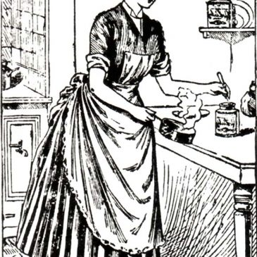 Vintage Woman Cooking Graphic