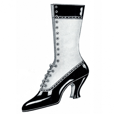 Ladies Victorian Boot Graphic