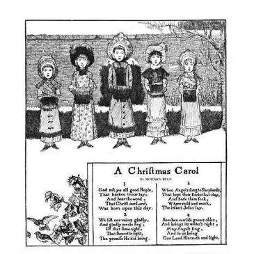 Christmas Carolers Graphic