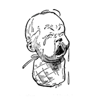 crying baby graphic