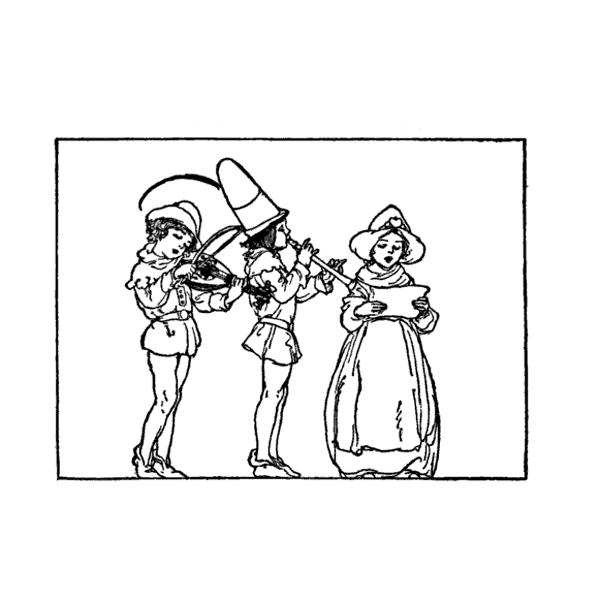 medieval christmas carolers