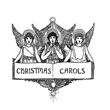 Christmas Carols Angels Banner